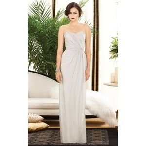 NEW DESSY COLLECTION Oyster Strapless Maxi Gown